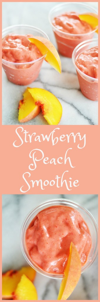 Strawberry Peach Smoothie by A Teaspoon of Home