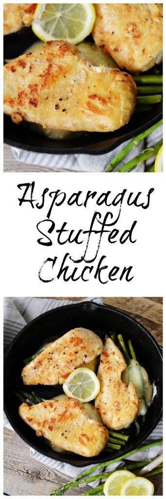 Asparagus Stuffed Chicken by A Teaspoon of Home