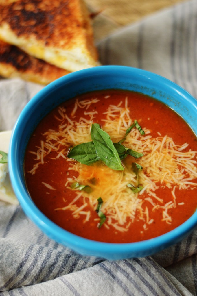 Fresh Tomato Basil Soup by A Teaspoon of Home