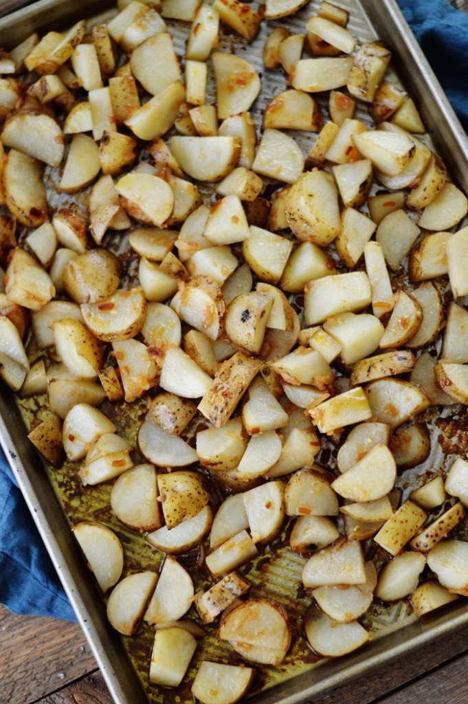 Garlic Roasted Potatoes by A Teaspoon of Home