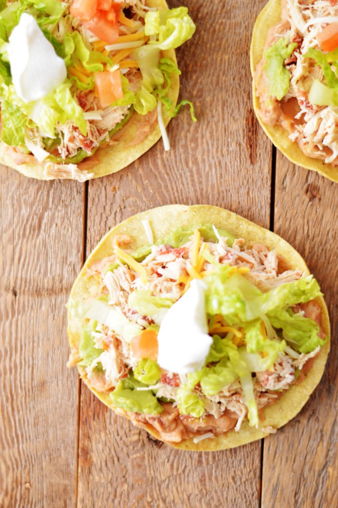 Chicken Tostadas by A Teaspoon of Home