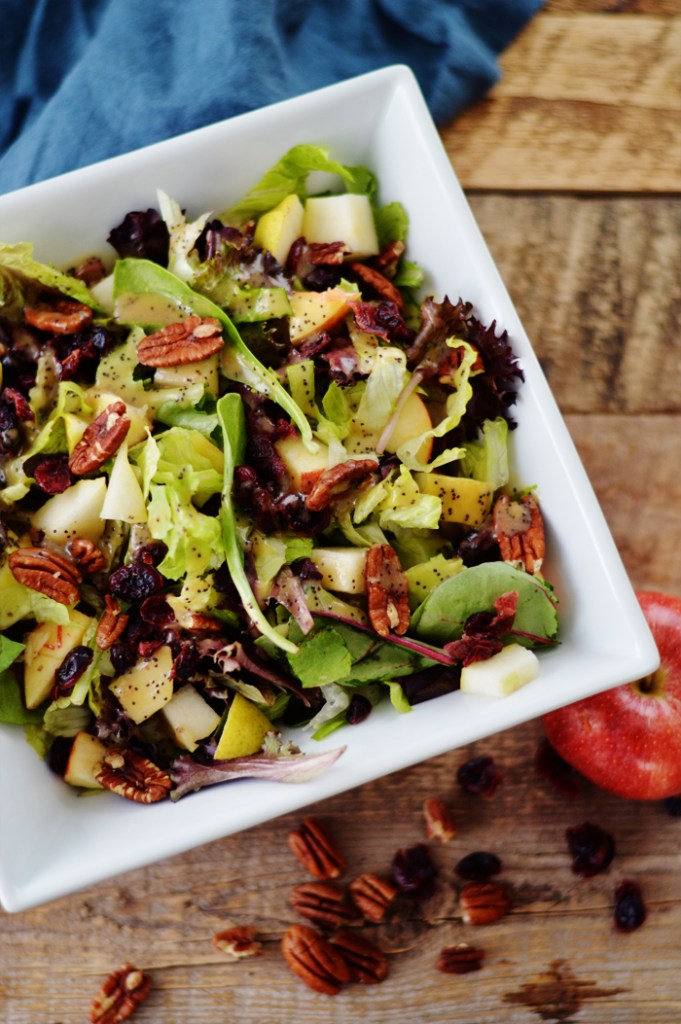 Tossed Winter Salad with Poppy Seed Dressing by A Teaspoon of Home