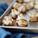 Bacon Stuffed Mushrooms by A Teaspoon of Home