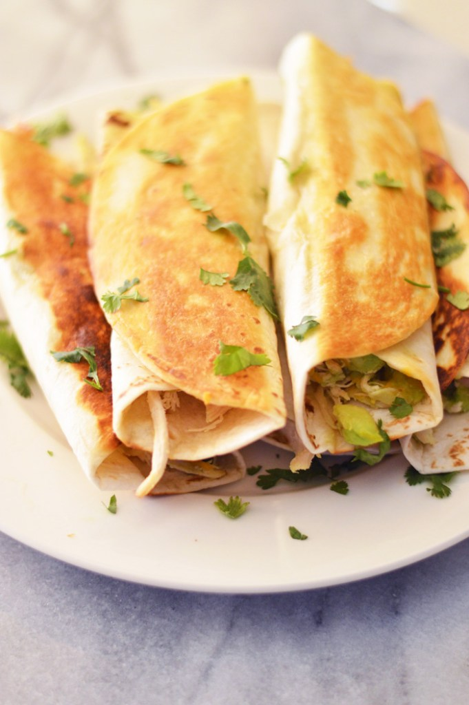 Chicken Avocado Burritos by A Teaspoon of Home