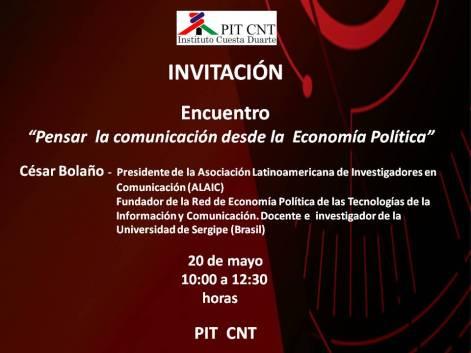 Invitación Encuentro César Bolaño