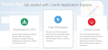 Install Oracle Application Express