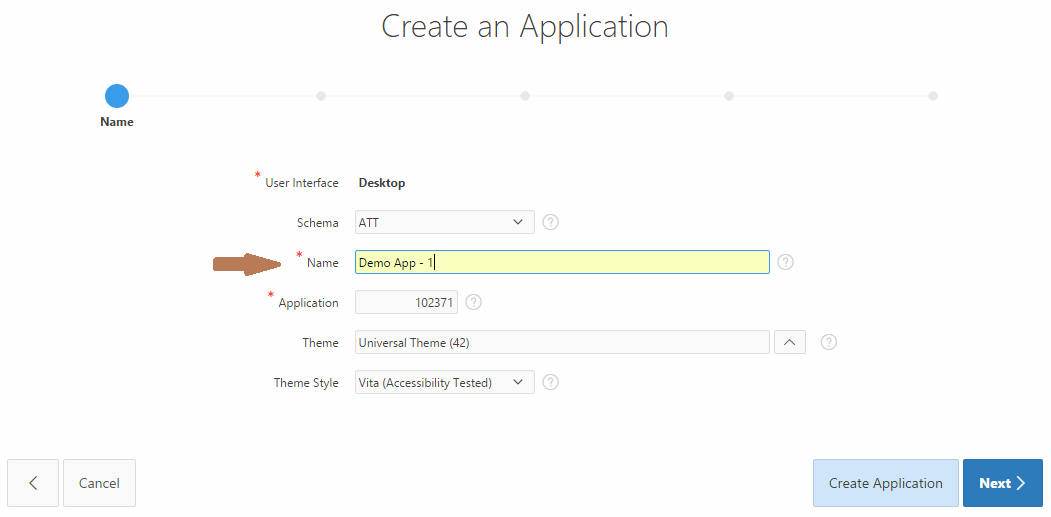 oracle-apex-create-application-select-name