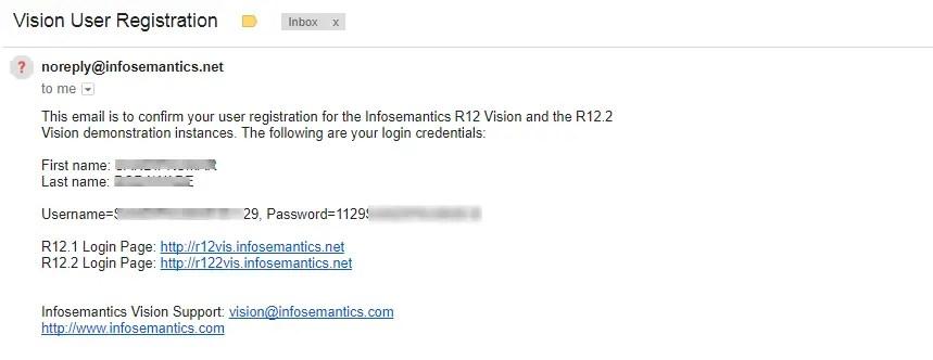 user-password-email r12 vision infosemantics