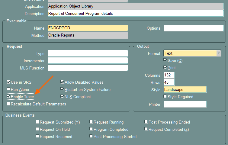 Enable and Generate trace for Forms, Concurrent Program and Reports using TKPROF in Oracle Apps