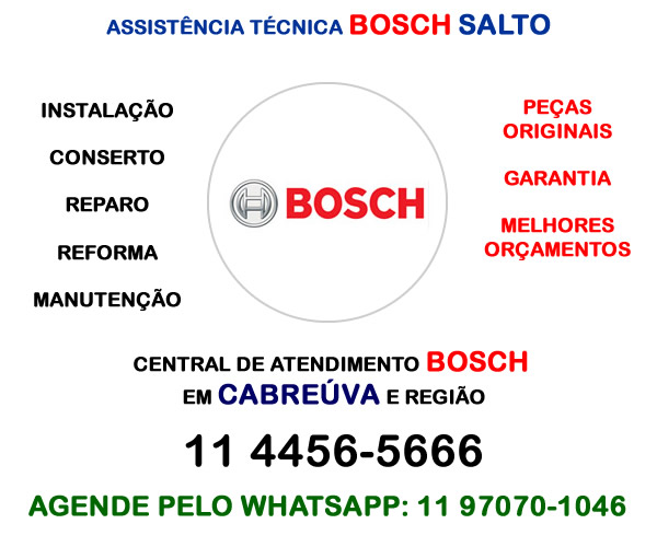 Assistência técnica Bosch Salto