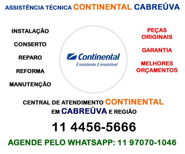 Assistência técnica Continental Cabreúva