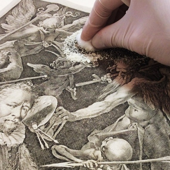"Retrato do pintor Bartholomeus Spranger: ""gravura do século XVII"""