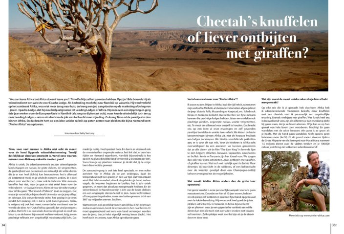 Atelier Africa Safaris in Gent Select Magazine