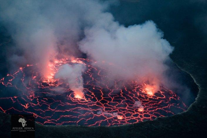 Nyiragongo - Congo Safari - Volcano Crater