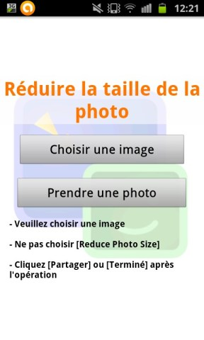 choisir la photo ou image à retravailler