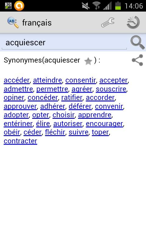 conceder synonyme