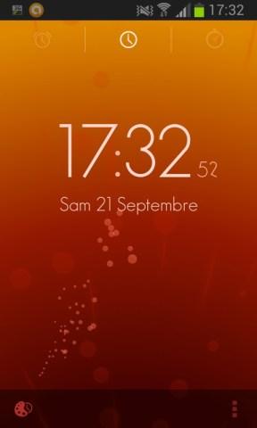 horloge de l'application Timely