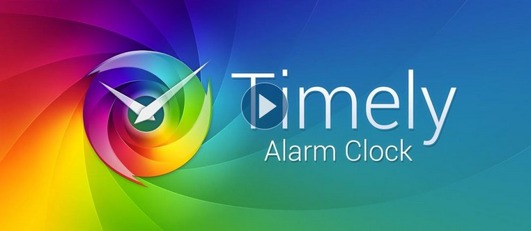 application d'alarme Timely sur android