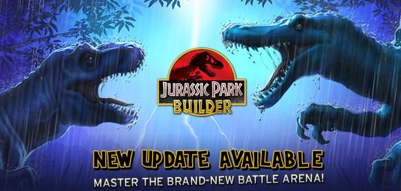 Nouvelle arène pour le jeu Jurassic Park Builder sur android