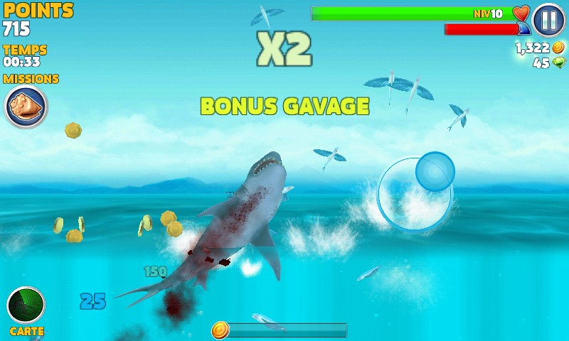 bonus multiplicateurs dans hungry shark evolution