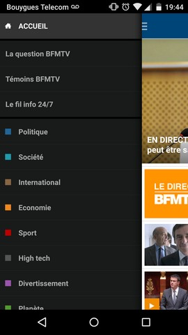 Application android de BFMTV