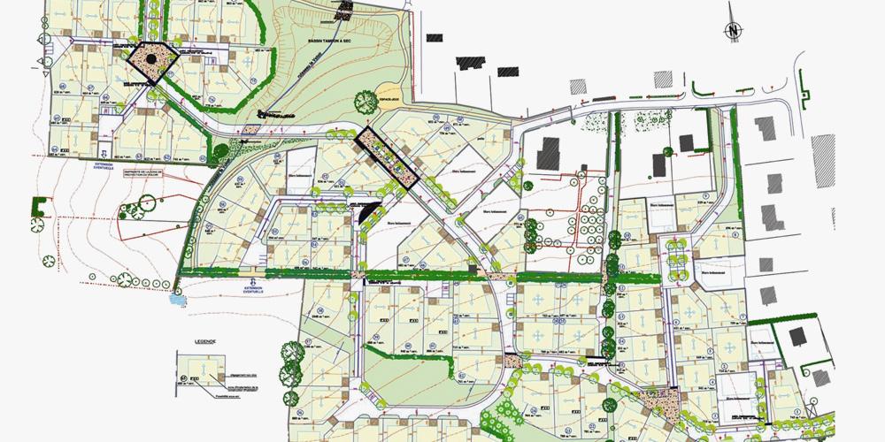 Plan - Le Champ Blanc - Etrelles - réalisation ABE