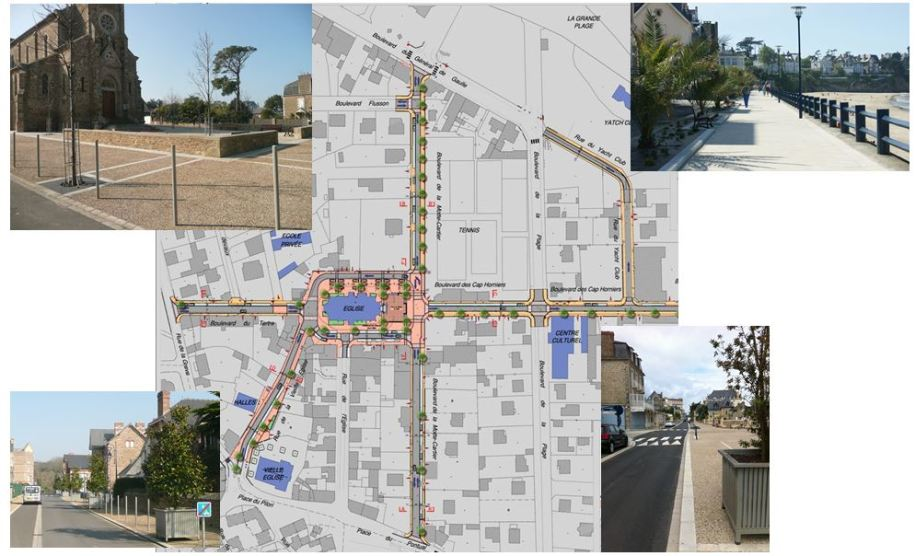 Centre bourg - Saint Lunaire - Réalisation ABE