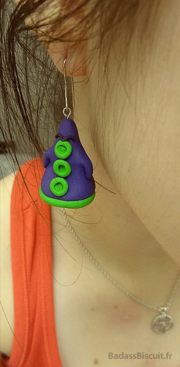 Boucles d'oreilles Fimo Day of the Tentacle