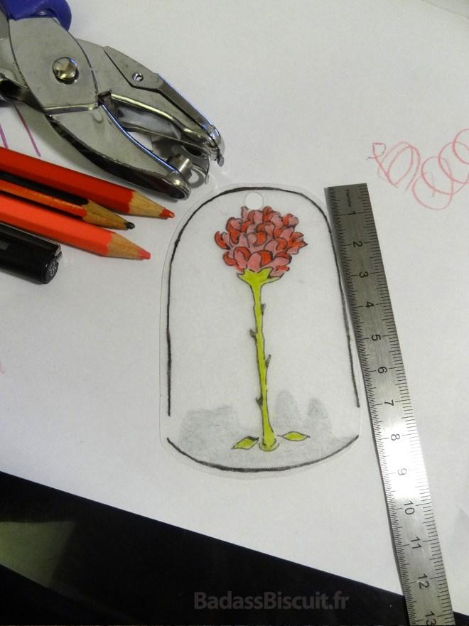 La Rose du Petit Prince avant cuisson du plastique fou