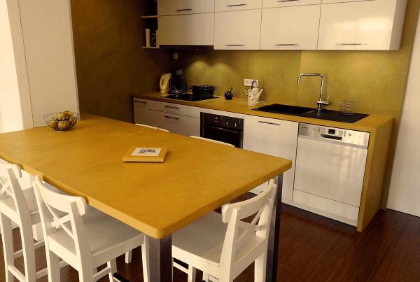 ImageUnes - béton ciré dans la cuisine pour le plan de travail à Rennes