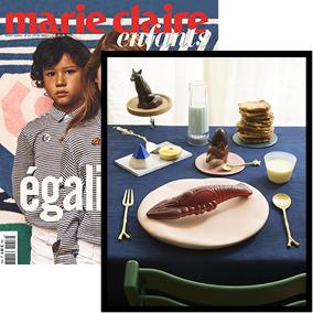 article magazine Marie Claire enfants photoshoot produits Atelier George