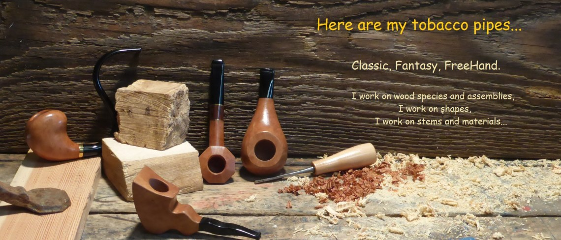 my workshop with my tobacco pipes production