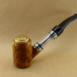 presentation of my small e-pipe worked in bush of olive wood