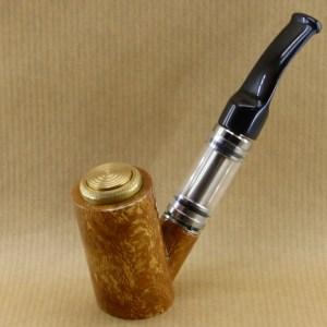 présentation de ma e-pipe en broussin de platane avec tuyau en ébonite
