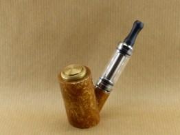 présentation de ma e-pipe en broussin de platane avec stem acrylique