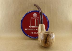 "présentation of my olive wood pipe ""oom spoon"""