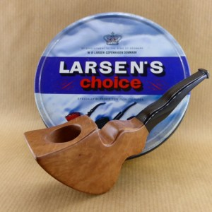 "présentation of my original briar pipe ""flying ribbon"""