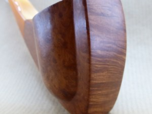 briar pipe named imbrication, front view
