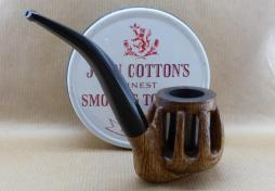 """Présentation of a new pipe : """"Rustica"""". Aok wood and graphit chamber."""