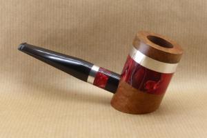 """Présentation de la collection """"COLORS"""" : Pipes à tabac contemporaine. No2 Nuages Rouge"""