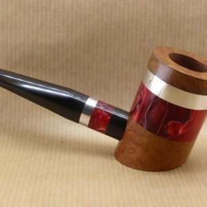 "New collection ""COLORS"" : Contemporary tobacco pipes. No2 Red clouds"
