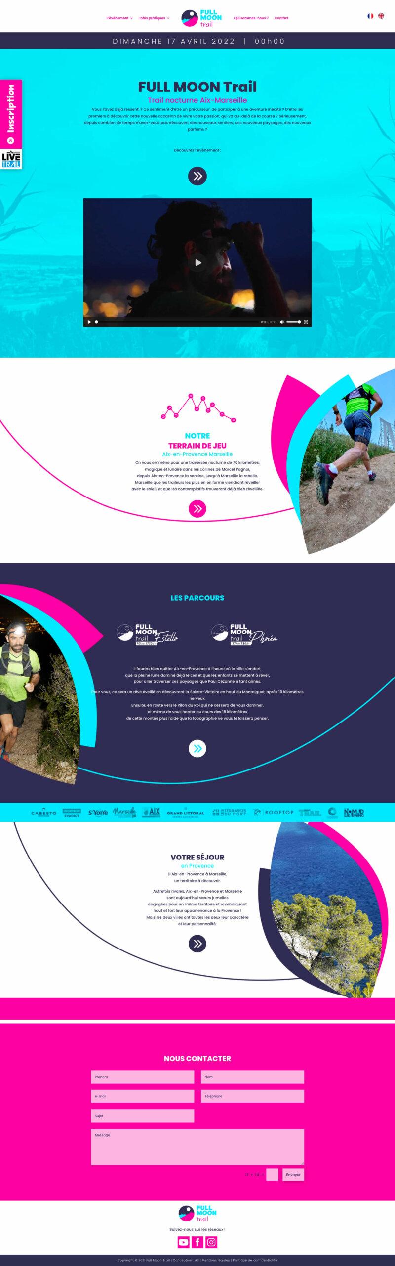 Création de site internet FULL MOON Trail
