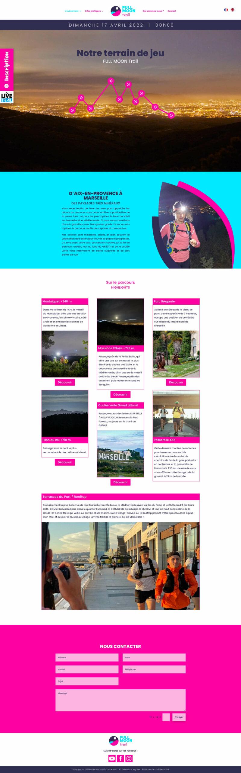 Webdesign FULL MOON Trail