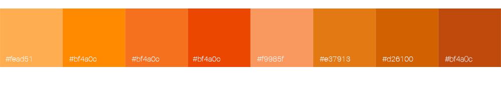 Bien choisir la couleur de son logo : l'orange