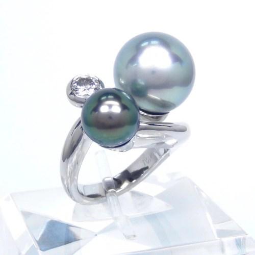 パール ダイヤモンド リング