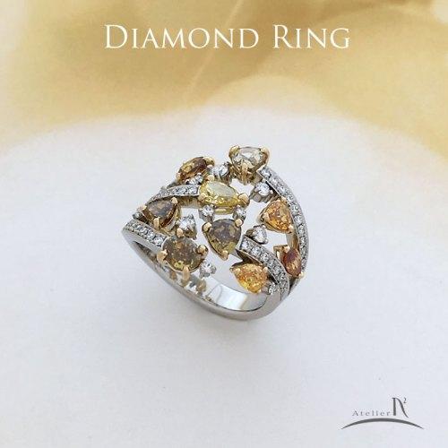 カラーダイヤモンドリング