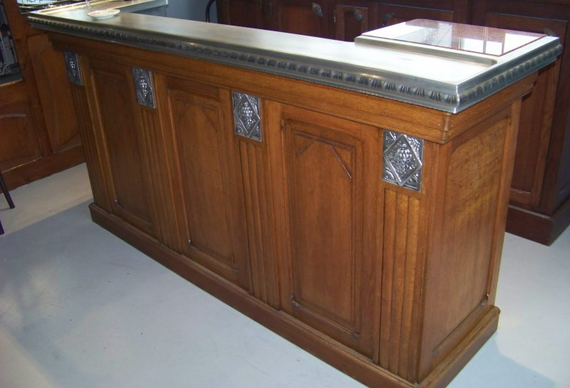 comptoir bar zinc occasion