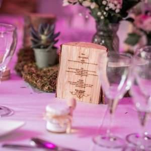Menu Mariage – Sur Bois