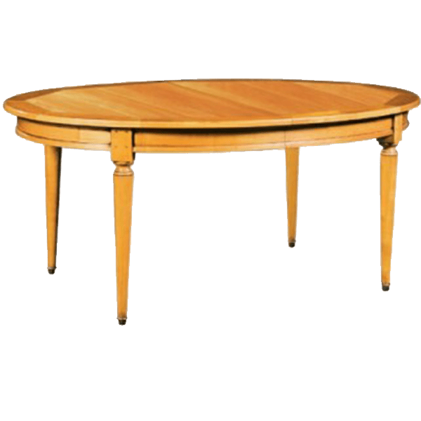 table ovale merisier massif louis philippe