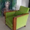 recouvrement fauteuil Art Déco en velours